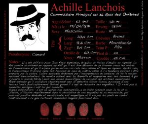 Commissaire Principal au 36 Quai des Orfèvres, Achille Lanchois - Les Enquêtes de Simon