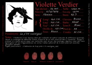 Violette Verdier, dite le Petit Rossignol - Les Enquêtes de Simon